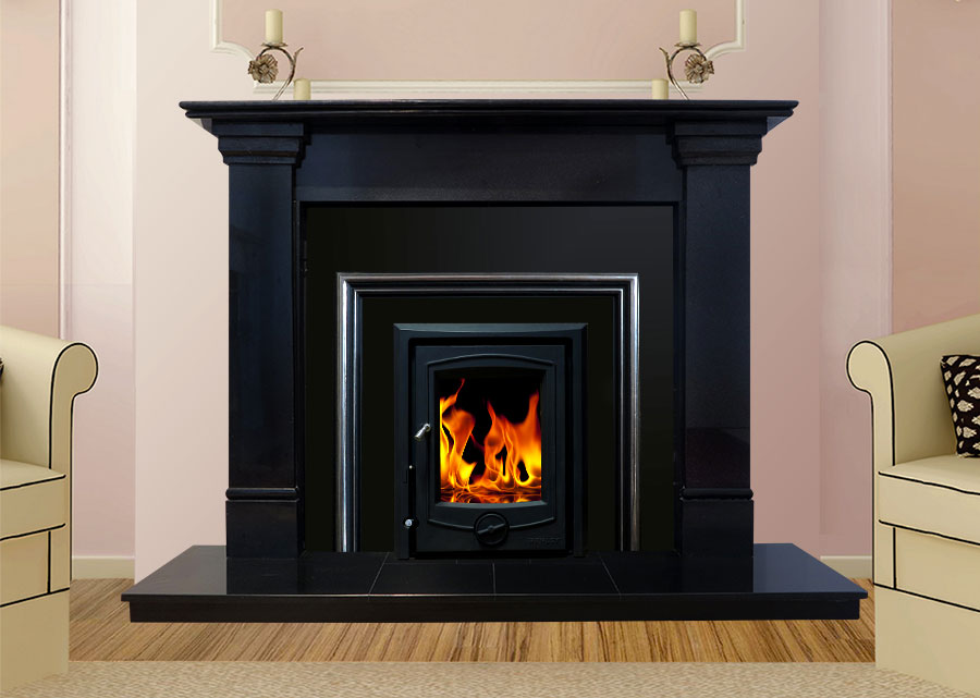 Oslo Marble Fireplace In Black Granite Marble Fireplaces Ireland