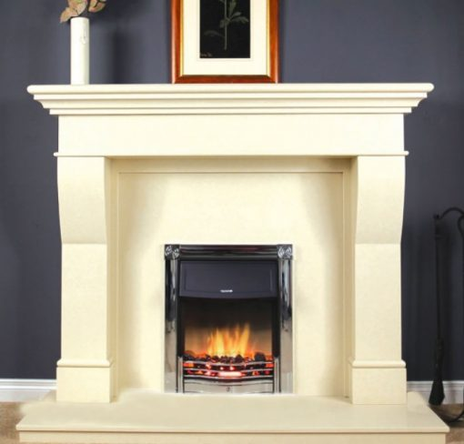 Estada Ivory Pearl Marble Fireplace